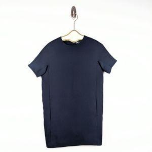 Vince Navy Blue Short Sleeve Dress - size XS